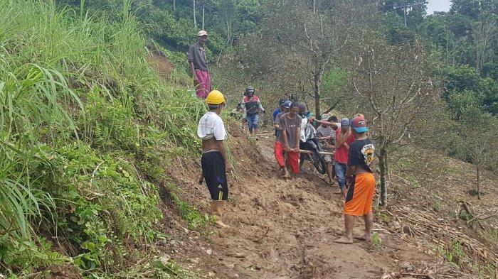 Alhamdullilah, Akses Jalan yang Menghubungkan Kecamatan Matangnga-Bulo Sudah Bisa Dilalui kembali