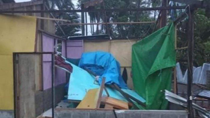 Angin Puting Beliung Terjang Dusun Garuda Papalang Mamuju, 5 Rumah Warga Rusak