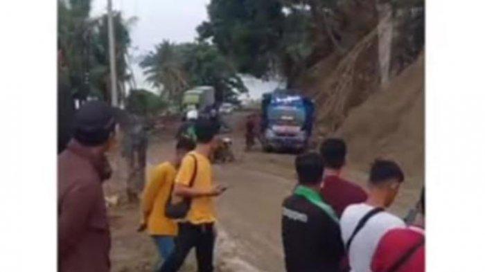 Sempat Macet, Arus Lalu Lintas di Desa Onang Majene Kembali Lancar