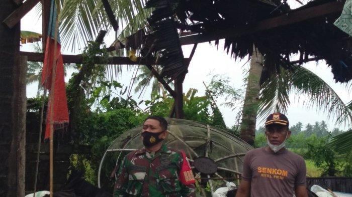 Lima Rumah di Wonomulyo Rusak Diterjang Angin Puting Beliung