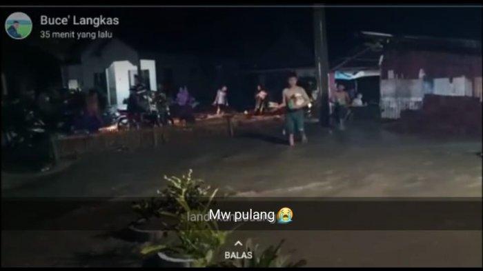 Hujan Deras, Banjir Rendam Permukiman Warga Kampung Landi Kanusuang Polman