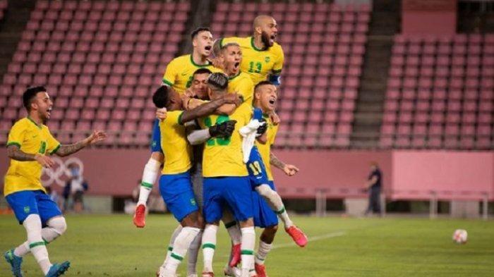 LIVE TVRI Final Sepak Bola Olimpiade Tokyo 2021 Brasil vs Spanyol, Tonton via Vidio.com