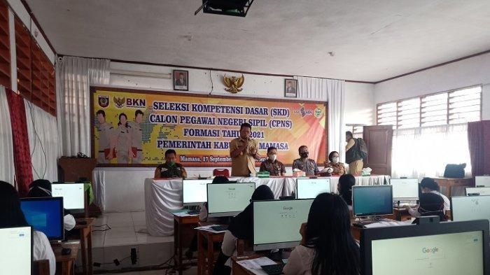Bupati Mamasa Ramlan Badawi Ingatkan Peserta SKD CPNS 2021 Tidak Berkerumun