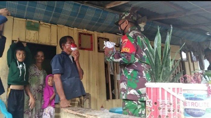 Komandan Kodim 1402/Polman Temui Rahman Pengguna Masker Batok Kelapa & Bantu Masker