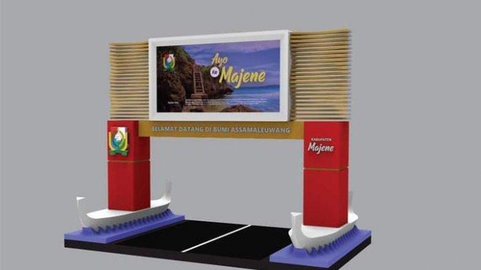 Penampakan Desain Videotron 8x4 Meter Akan Dibangun di Perbatasan Majene-Polman