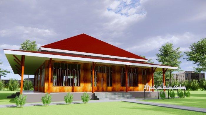 Gambar bangunan Masjid Desa Kayu Angin Malaunda