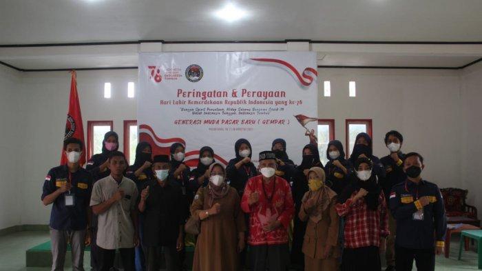 Walau Pandemi Covid-19, Generasi Muda Pasar Baru Tinambung Polman Tetap Meriahkan HUT ke-76 RI