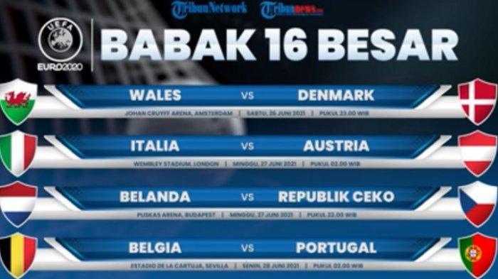 Jadwal dan Live Streaming EURO 2020 Malam Ini 26 Juni 2021, Wales vs Denmark & Italia vs Austria