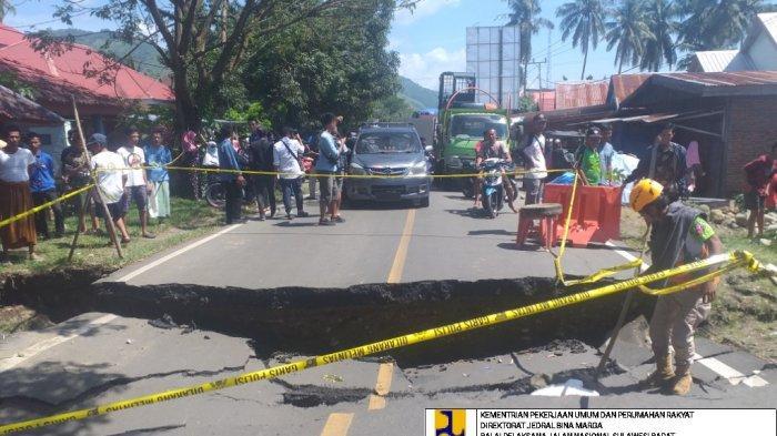 Jalan Trans Sulawesi di Malunda Majene putus usai banjir