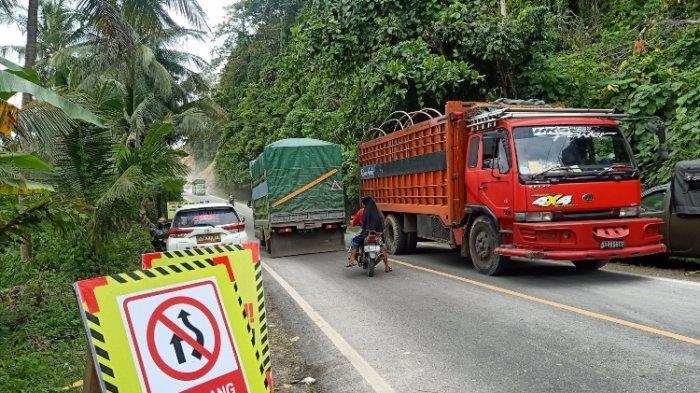 Arus Lalu Lintas Jalur Trans Sulawesi di Tubo Majene Hari Ini Normal