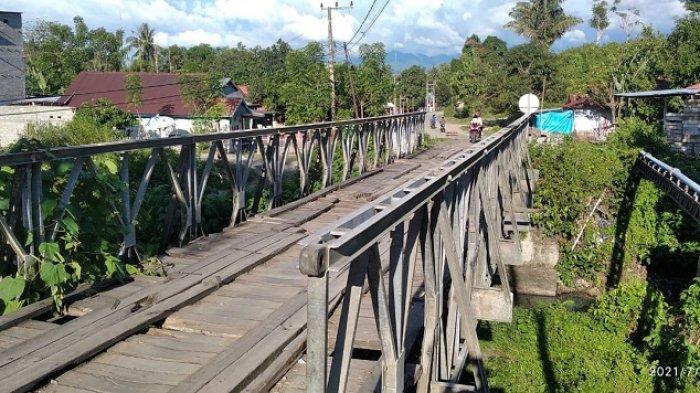 FOTO: Jembatan di Rangas Timur Kelurahan Bulutakkang Kecamatan Simboro Mamuju