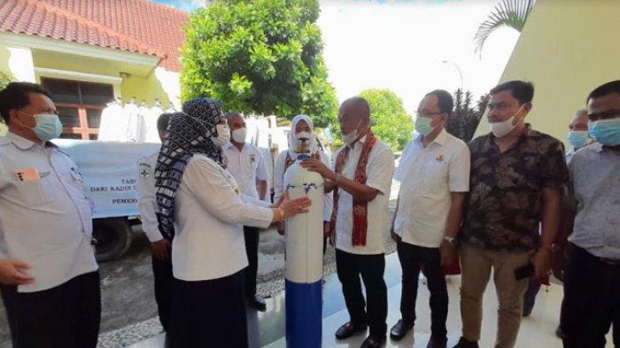 KADIN Sulbar Sumbangkan 100 Tabung Oksigen, 30 RSUD Regional & 50 RS Bhayangkara