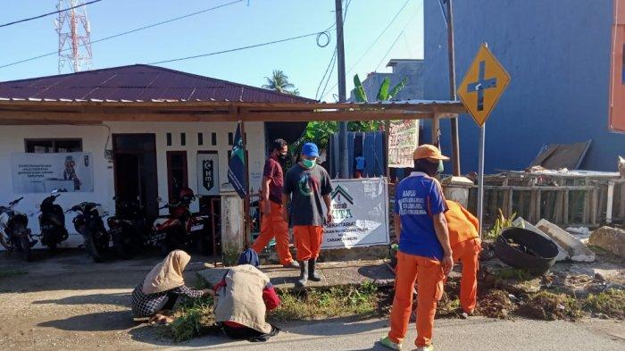 Kader HMI MPO Mamuju Aksi Bersih Lingkungan Bersama Tim Orange