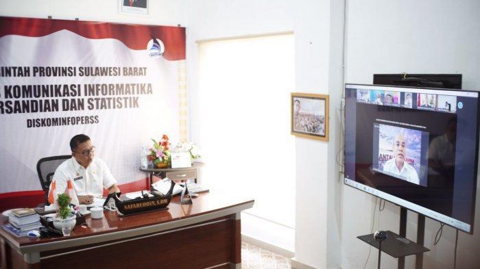 Kadis Kominfo Sulbar mengikuti webinar terbatas membahas penetapan batas wilayah laut