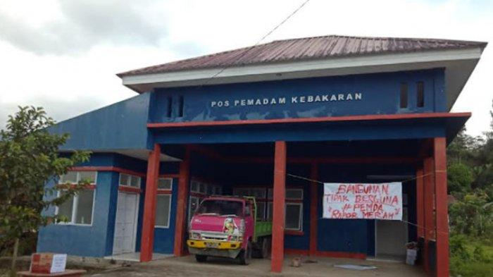 Pemda Mamasa Dapat Rapor Merah, Kantor Pos Damkar di Sumarorong Tidak Difungsikan