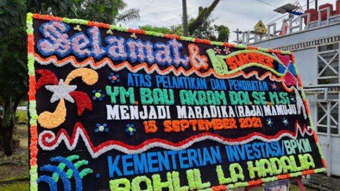 Menteri Investasi dan BKPM Bahlil La Hadalia Kirim Ucapan Selamat Pelantikan Raja Mamuju