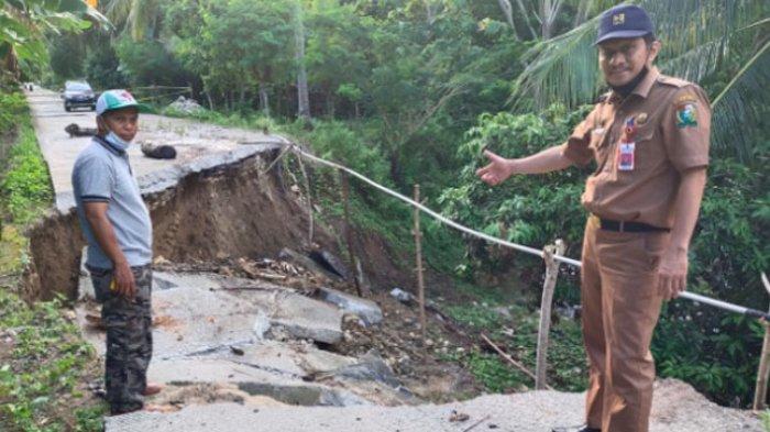 Dinas PUPR Majene Taksir Rp 200 Juta Biaya Perbaikan Jalan Amblas di Desa Simbang