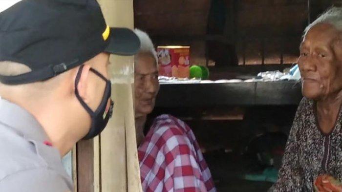 Kapolsek Wonomulyo Menangis, Temui Nenek 100 Tahun Tinggal Berdua Anaknya Umur 72 Tahun