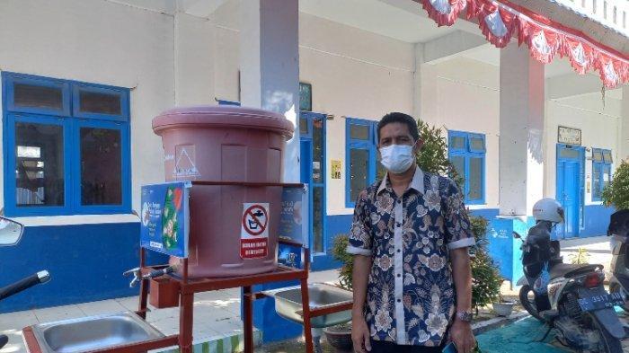SMPN 1 Mamuju Siap Gelar PTM Terbatas, Sediakan Cek Suhu Tubuh dan Wadah Cuci Tangan