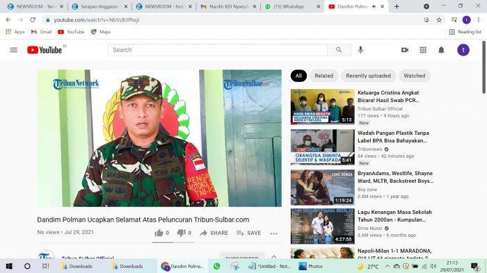 VIDEO Dandim 1402 Polman Berharap Tribun-Sulbar.com Menyajikan Berita yang Berimbang dan Inovatif