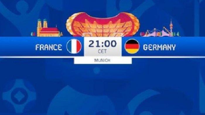 Link Live Streaming RCTI Perancis vs Jerman EURO 2020 dan Update Klasemen Piala Eropa Grup F