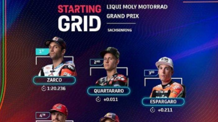 Link Live Streaming Trans7 MotoGP Jerman 2021, Zohann Zarco Urutan Pertama, Rossi, Marquez?