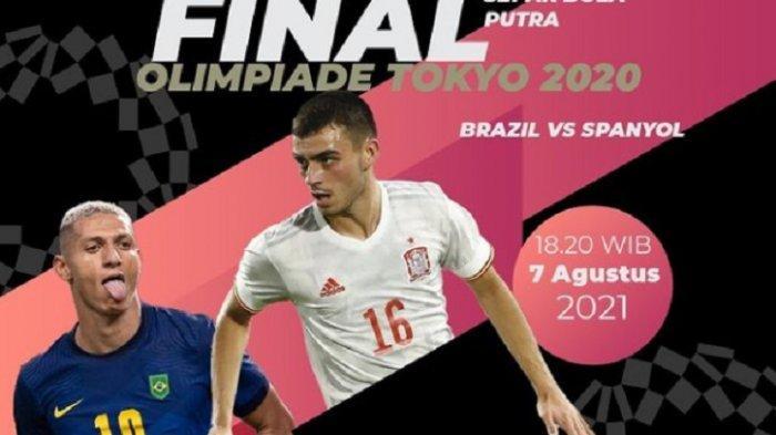 LINK Live Streaming TVRI Brasil vs Spanyol, Final Sepak Bola Olimpiade Tokyo 2021
