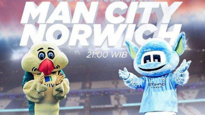 LINK Live Streaming Mola TV Manchester City vs Norwich Malam Ini Pukul 22.30 WIB