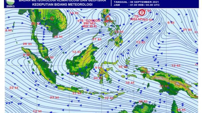 SIMAK Prakiraan Cuaca di Wilayah Sulawesi Barat untuk Jumat 10 September Besok