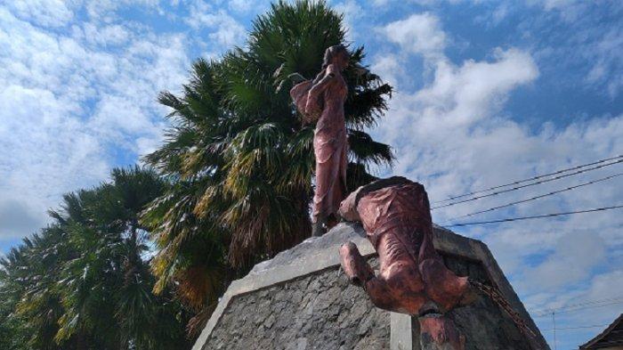 VIDEO Patung Tugu Tani di Alun Alun Wonomulyo Polewali Mandar Dibongkar, Siapa Pelakunya?