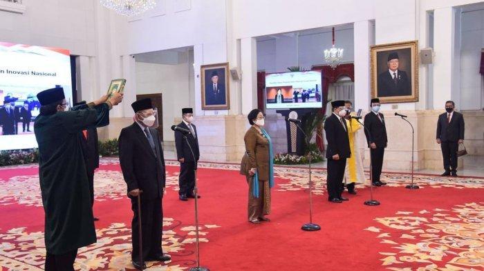 Jokowi Resmi Lantik Dewan Pengarah BRIN, Megawati Jadi Ketua, Ini Daftar Susunannya
