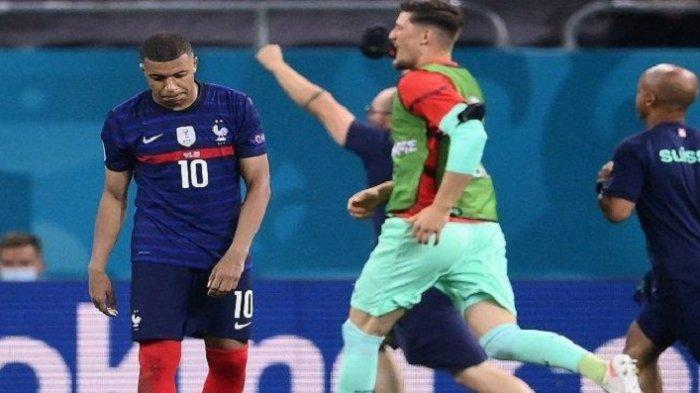 Kylian Mbappe Gagal Penalti, Prancis Tersingkir di Babak 16 Besar EURO 2020, Cuplikan Gol