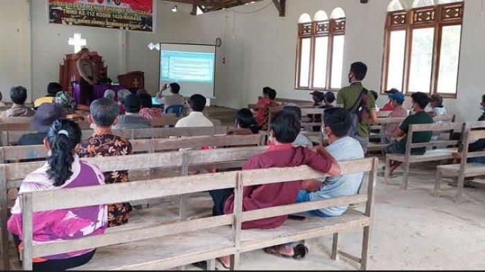 TNI-Polri Beri Penyuluhan Bela Negara Kepada Warga di Lokasi TMMD Desa Banea Mamasa