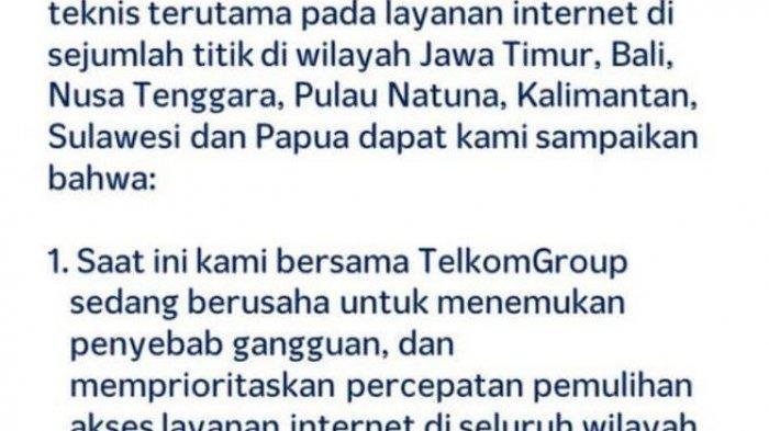Gangguan Layanan Internet Pada Telkomsel, 7 Wilayah di Indonesia Alami Penurunan Kualitas Internet