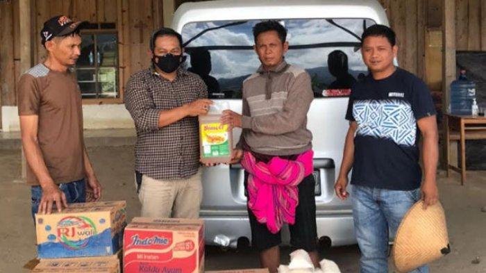 Peduli Korban Kebakaran di Sumarorong, Polres Mamasa Beri Bantuan Sembako