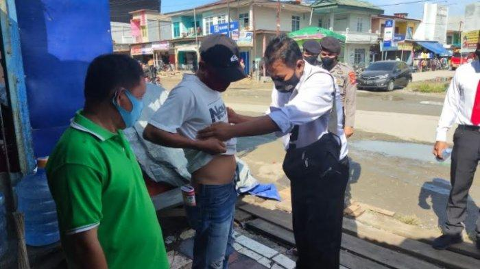 Polres Mamuju Tengah Gelar Razia Premanisme di Pasar Topoyo