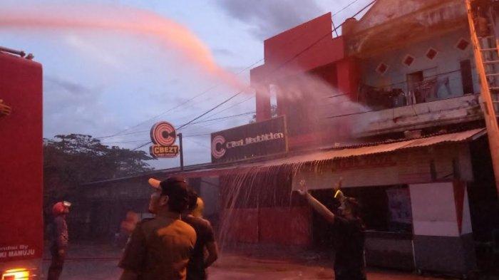 Tabung Gas Meledak, 2 Ruko di Jl Yos Sudarso Mamuju Nyaris Ludes