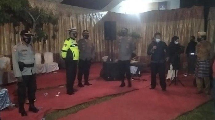 Pesta Pernikahan Anak Camat Wonomulyo Polman Dihadiri Banyak Pejabat Sebelum Dibubarkan