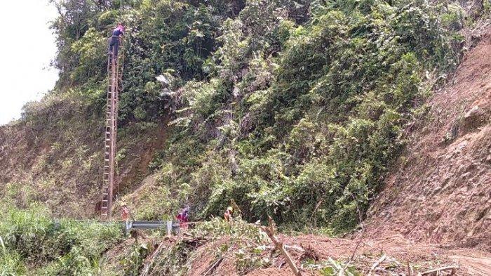 VIDEO: Longsor Jalan Poros Matangnga Desa Pulliwa Polman