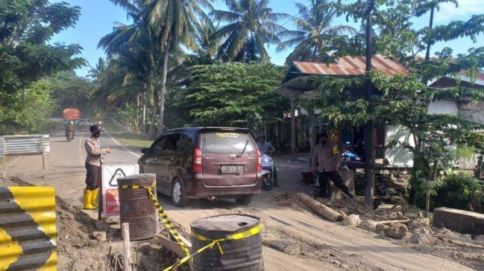 Antisipasi Kemacetan, Polisi Disiagakan di Lokasi Jembatan Ambles Desa Onang