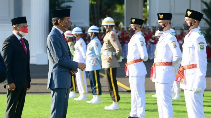 Tanpa Cristina dan Arya Maulana, Presiden Jokowi Kukuhkan Paskibraka dari Seluruh Indonesia