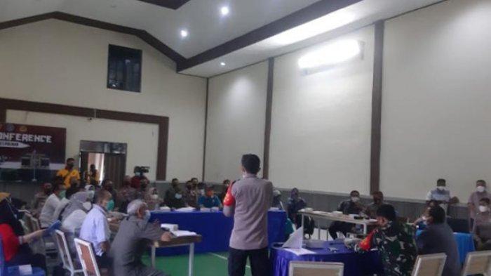 Kapolres Polman Sebut Vaksinasi Level Desa Masih Terkendala Karena Aparat Desa Apatis