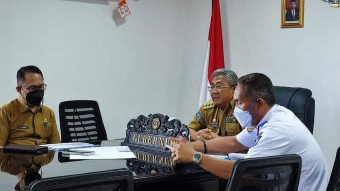 Rapat virtual Gubernur Sulbar Ali Baal Masdar