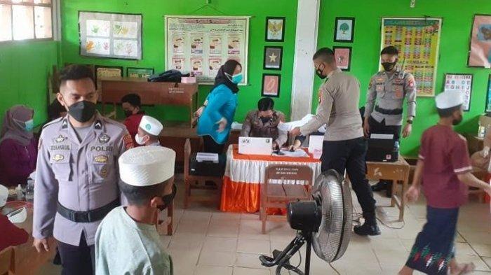 684 Santri Ponpes DDI Al-Hisan Kanang Divaksin, Polisi dan TNI Dikerahkan untuk Pengamanan