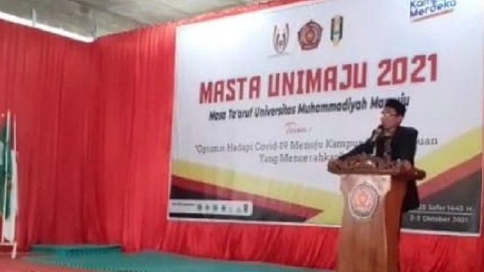 Masta Universitas Muhammadiyah Mamuju, Rektor: Optimisme Kampus Berkemajuan dan Mencerahkan