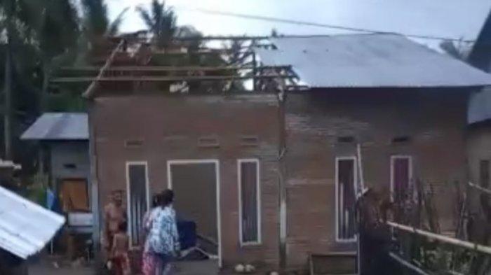 Angin Puting Beliung di Papalang Mamuju Buat Warga Berhamburan, 2 Orang Tertimpa Balok dan Atap