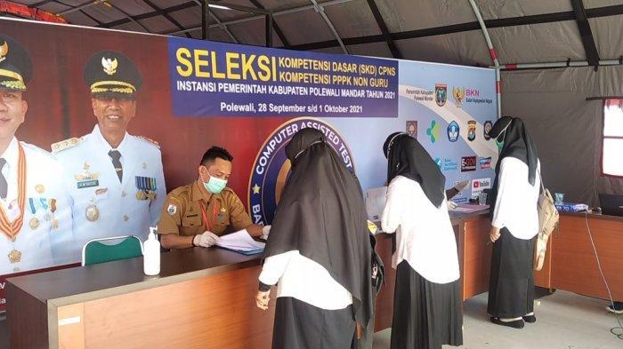 752 CPNS dan 520 PPPK Non Guru Ikut SKD di Gedung Gadis Polman