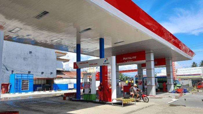 Jalanan di Malunda Putus, Stok BBM Jenis Pertalite & Pertamax di SPBU Kali Mamuju Habis