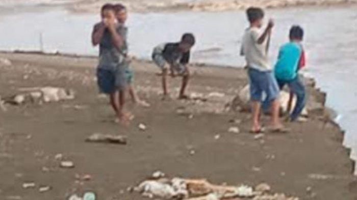 Kulit Ayam Dalam Karung di Pantai Galung Tapalang Ganggu Kenyamanan Pengunjung