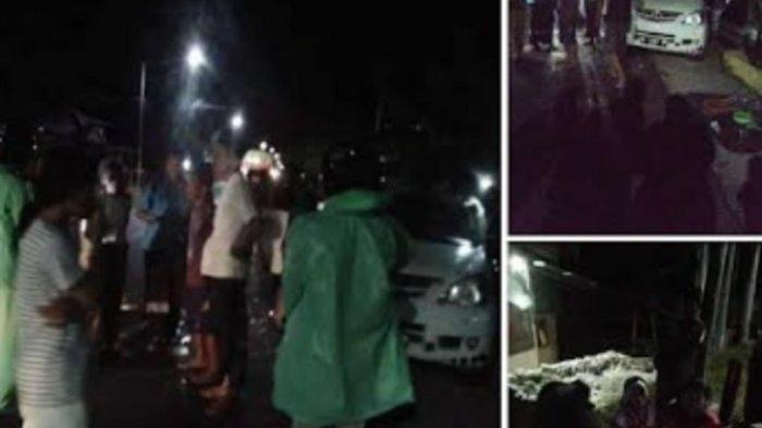 Polisi Benarkan Pria Bersenjata Hadang Mobil Penumpang Hingga Terbalik di Pambusuang Polman